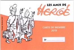 Les Amis De Hergé ADH Carte De Membre 2019 Tintin Kuifje - Hergé
