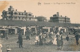 CPA - Belgique - Oostende - Ostende - La Plage Et Chalet Royal - Oostende