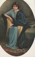 PRINCESSE GAGARINA-STOURDZAPORTRAIT WITH BLUE MANTIE LIBRERIA G MOLA TREVIGLIO - Belle-Arti