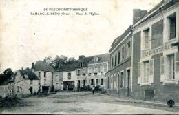 N°72569 Cpa St Marc De Réno -place De L'église- - Francia