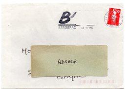 DORDOGNE - Dépt N° 24 = BERGERAC 1995 = FLAMME  SECAP Illustrée ' B' ' - Postmark Collection (Covers)