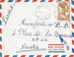 AEF Tchad 1955 Doba Moundou Coiffure Hairdress Cover - Brieven En Documenten