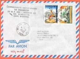 COSTA D'AVORIO - Côte D'Ivoire - YVORY COAST - 2004 - 100F Olympic Games + 400F 20° Cina - Comunità Missionaria Di Villa - Costa D'Avorio (1960-...)