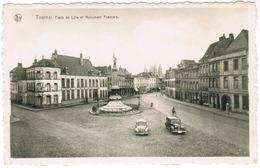 Tournai, Place De Lille Et Monument Français, VW Coccinelle, Kever, Käfer (pk59259) - Tournai