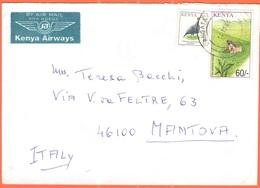 KENYA - 2004 - 6 Kicheleko + 60 Tea - Kenya Airways - Airmail - Viaggiata Da Langata Per Mantova - Kenia (1963-...)
