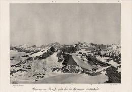 Panorama Nord Ouest Prisd De La Levanna Occidentale   1905 - Vieux Papiers