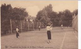 CPA PENSIONNAT Des DAMES De Saint Maur? CALLENELLE Court De Tennis Avec Joueuses RARE - Péruwelz
