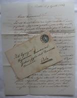 BUSTA / LETTERA 1864 DA TRIESTE A POLA ( PULA PULJ) CROAZIA  FRANCOBOLLO AUSTRIA 10 KREUZER AQUILA BICIPITE + CERALACCA - Italia