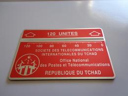 TELECARTE TCHAD 120 UNITES ROUGE N° 506A15531 UTILISE - Tsjaad