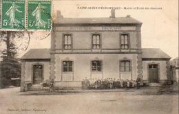 D27  SAINT AUBIN D'ÉCROSVILLE  Mairie Et École Des Garçons - Le Neubourg