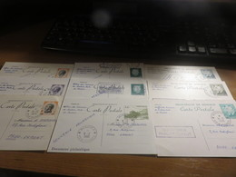 Cartes Entiers Postaux Monaco N°30 à 38 Oblitérés Ayant Circulé - Entiers Postaux