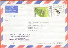 KENYA - 2004 - 60 Tea + 1 Kisigajiru - Airmail - S.A.L. - Missioni Don Bosco - Viaggiata Da Nairobi Per Mantova - Kenia (1963-...)