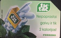 Paco \ LITUANIA \ LT-LTV-M029 \ Ferrero Tic-Tac \ Usata - Lituania