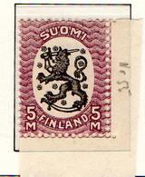 PIA - FINLANDIA - 1918-21  : Uso Corrente - Stemma  (Yv 80) - Unused Stamps