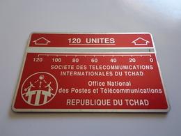 TELECARTE TCHAD 120 UNITES BORDEAU  N° 611C84372 UTILISE - Tsjaad
