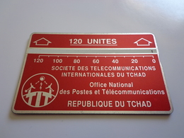 TELECARTE TCHAD 120 UNITES BORDEAU  N° 611C84372 UTILISE - Tschad