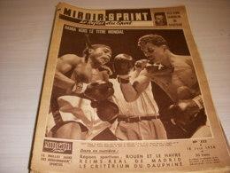 MIROIR SPRINT 523 18.06.1956 BOXE HAMIA FOOT REAL MADRID Le SPORT à ROUEN HAVRE - Sport