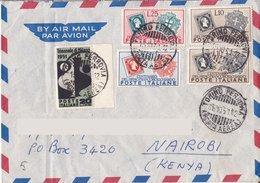 Aerogramma Diretto In Kenia Da Torino  1951 - Valori Gemelli - 6. 1946-.. Repubblica