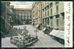 Napoli Città Piazza Monteoliveto Cartolina MX5156 - Napoli