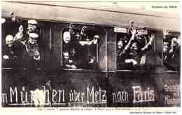 - F23384CPA - GUERRE DE 1914 - MUNCHEN - Les Boches Quittant Munich En Criant à Paris - Assez Bon état - THEMES - Guerre 1914-18