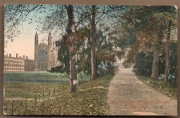 Cambridge Kings College Path & Bridge Posted 1919 - Cambridge