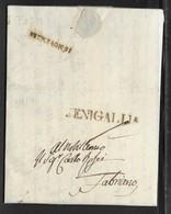 DA SENIGALLIA A FABRIANO - 15.9.1831. - Italy