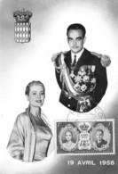 MONACO - S.A.S. Le Prince Rainier III Et La Princesse Grace, 19 Avril 1956 - Grace Kelly - Palacio Del Príncipe