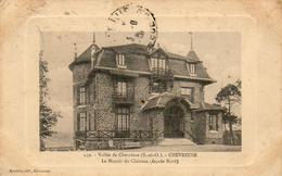 D78  CHEVREUSE  Le Manoir Du Claireau Façade Nord  ........ Carte à Cuvette Adressé à Famille Prince Russe GALITZINE - Maurepas