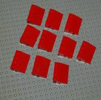 Lego Lot Lot 10 X Slope Tuile Rouge Pente 33 3x4 Ref 3297 - Lego Technic