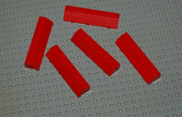 Lego Lot 5 X Slope Tuile Rouge Pente 45 2x8 Ref 4445 - Lego Technic