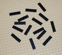 Lego Lot 15x Plate Noir 1x4 Ref 3710 - Lego Technic