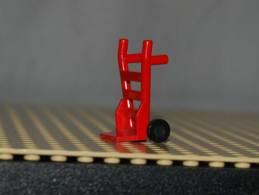 Lego Diable à Main Rouge Complet Avec Roue  Ref 2495c01 - Lego Technic