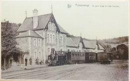 Pussemange La Gare Belge Et Le Train Français (Vresse-sur-Semois) (Reproduction - Photo) - Vresse-sur-Semois