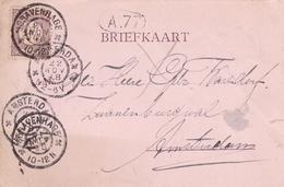 Netherlands 1898 Gravenhage To Amsterdam Postcard - Postal Stationery