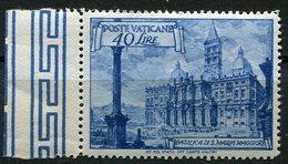Vaticano 1949 - Basiliche, 40 Lire ** - Neufs