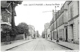 SAINT-MANDE (94)   - L AVENUE SAINTE-MARIE -    Bb-120 - Saint Mande