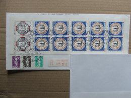 France 1990 Carnet Croix Rouge Oblitéré Sur Lettre Recommandée - Postzegelboekjes