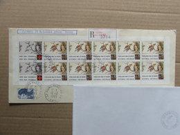 France 1989 Carnet Croix Rouge Oblitéré Sur Lettre Recommandée - Postzegelboekjes