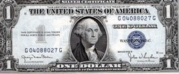 Legal Tender Notes,1Dollars1935 D,Rare,couleur Bleu,alphabet H,état De St Louis, UNC. - Stati Uniti