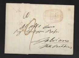 DA NAPOLI A FABRIANO - 1.2.1840. - Italia