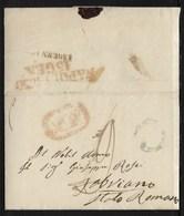 DA NAPOLI A FABRIANO - 14.1.1850. - Italia
