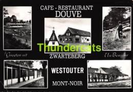 CPSM CAFE RESTAURANT DOUVE ZWARTEBERG WESTOUTER MONT NOIR ( PLI D'ANGLE - PLOOITJE HOEK ) - Heuvelland