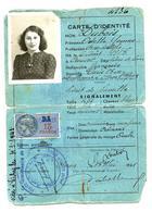 """Carte D'identité """"type Laisser-passer"""" 1941 (visé à Vichy En 1943) - 1939-45"""