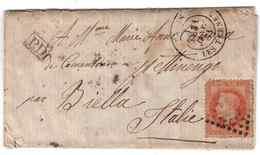 LAC Du 31 Janvier 1871 Pour L'ITALIE - TEXTE - Postmark Collection (Covers)