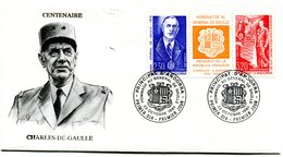 Thème Général De Gaulle - FDC Andorre Yvert 398 / 399 - X 1111 - De Gaulle (Général)