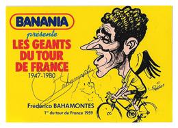 CARTE CYCLISME BAHAMONTES SIGNEE SERIE BANANIA - Cyclisme