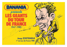 CARTE CYCLISME ZOETEMELCK SIGNEE SERIE BANANIA - Cyclisme