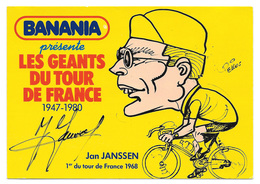CARTE CYCLISME JANSSEN SIGNEE SERIE BANANIA - Cyclisme
