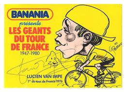 CARTE CYCLISME LUCIEN VAN IMPE SIGNEE SERIE BANANIA - Cyclisme