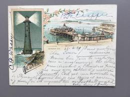 Plymouth - Litho 1899 - Pier - Eddystone - Plymouth